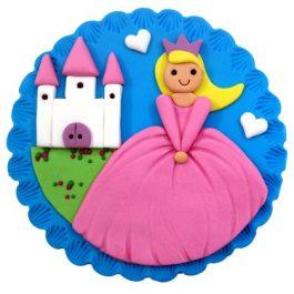 משטח מעוצב מבצק סוכר – נסיכה בארמון
