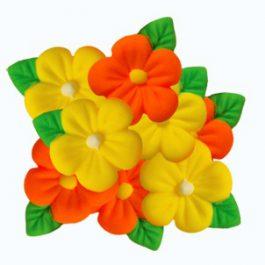 פרח אבקן קטן כתום צהוב