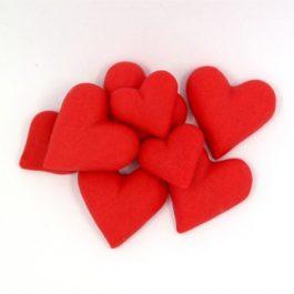 לבבות קטנים אדומים