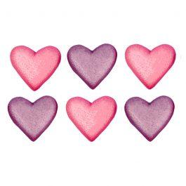 לב מטאלי ורוד סגול
