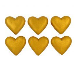 לב מטאלי זהב