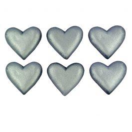 לב מטאלי כסף
